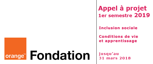 appel à projets 1er semestre 2019 fondation orange