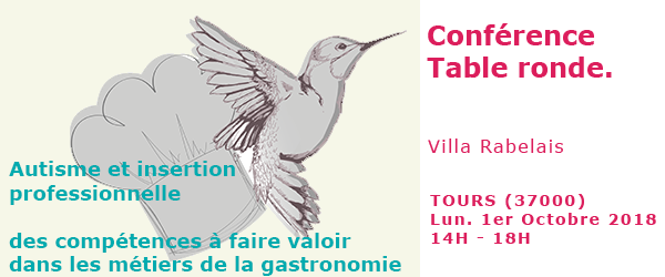Conférence table ronde insertion professionnelle autisme gastronomie